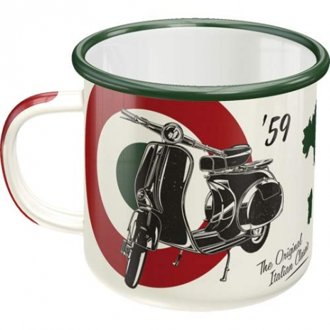 Emaljmugg Retro Vespa 'The Original Italian Classic'