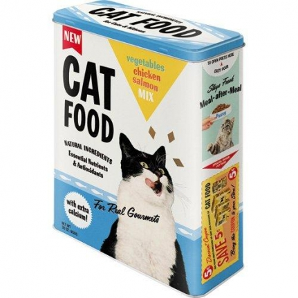 Plåtburk Kattmat XL 'Cat Food'