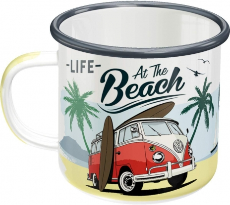 Emaljmugg VW 'Life At The Beach'