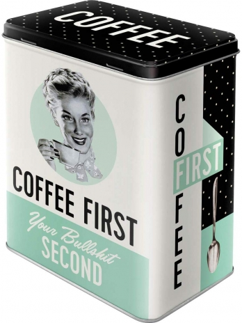 Plåtburk 'Coffee First'