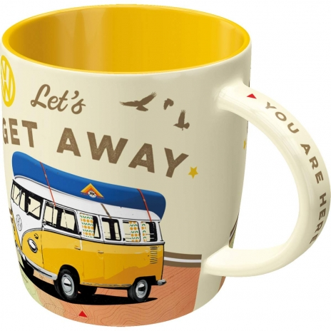 Mugg Retro VW 'Let's Get Away'