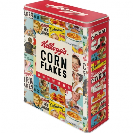 Plåtburk Flingor 'Kellogg's Corn Flakes Collage'