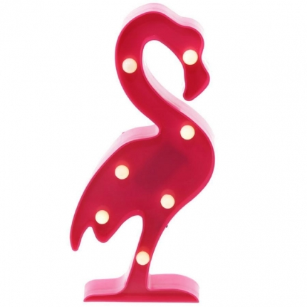 LED Lampa Flamingo