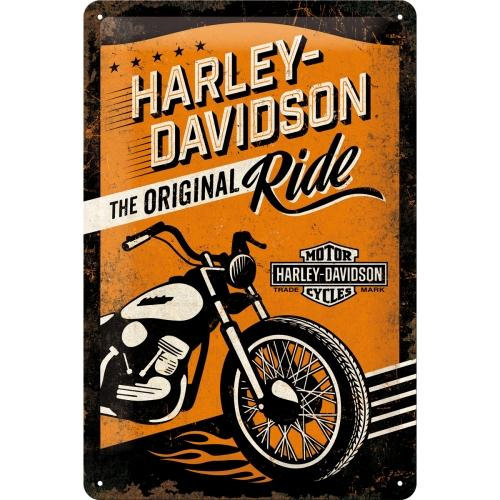 Plåtskylt 'Harley Davidson The Original Ride' 20x30cm