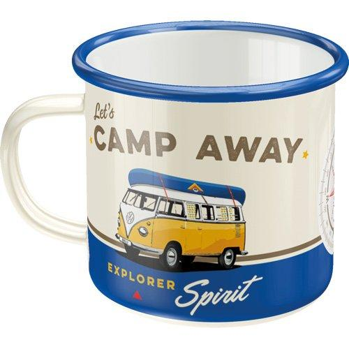 Emaljmugg Retro 'Let's Camp Away'
