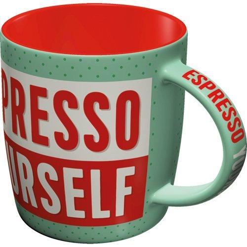 Mugg Retro 'Espresso Yourself'