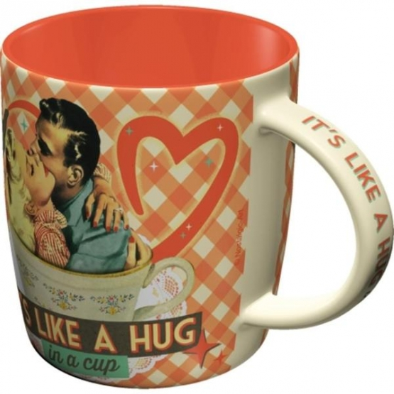 Mugg Retro 'It's Like A Hug In A Cup'