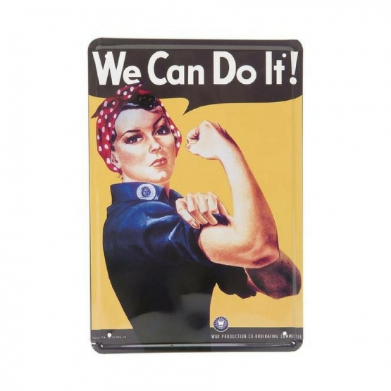 Plåtskylt 'We Can Do It' 20x30CM